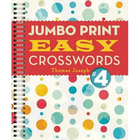 Jumbo Print Easy Crosswords - Jumbo Four