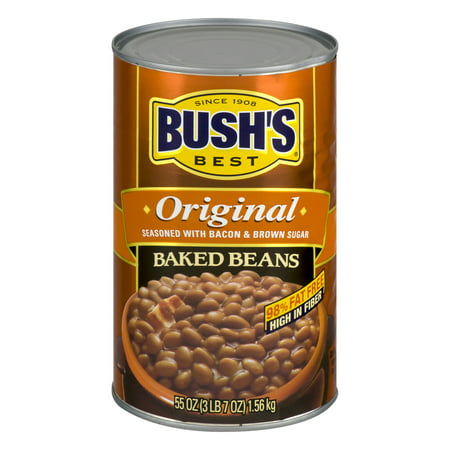 (2 pack) BUSH'S Original Baked Beans, 55 oz. (Best Bush Green Beans To Grow)