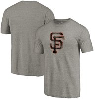 San Francisco Giants Team Tri-Blend T-Shirt - Heathered Gray