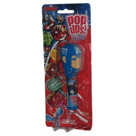 Marvel Captain America Lollipop Case w/ Chupa Chups Candy Pop Ups