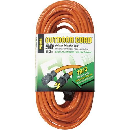 Prime EC501630 50' 16/3 SJTW Orange Extension Cord