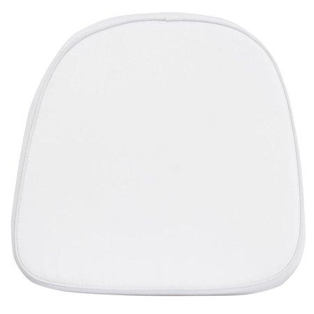 Kids Soft White Fabric Chiavari Chair Cushion ()