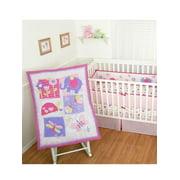 "Sumersault ""Forever Friends"" 4-Piece Crib Set - pink/purple, one size"