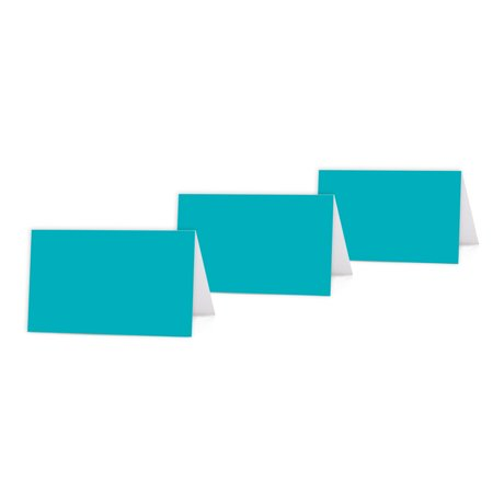 Aqua Color Blank Table Tent Printable Place Cards, 20-Pack