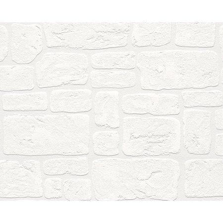 Dekora Natur 6 - Naturally Multifaceted White Wallpaper Sample - image 2 de 2