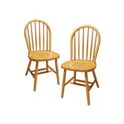 Windsor Chair, Set of 2, Multiple Finishes by Visiondecor Furniture