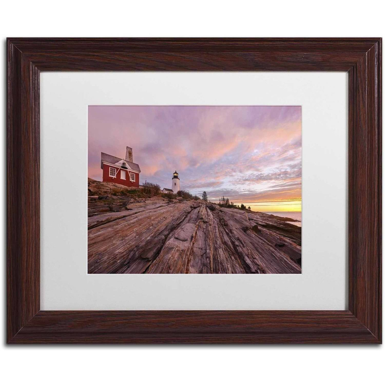 Trademark Fine Art 'Granite Marvel' Canvas Art by Michael Blanchette Photography, White Matte, Wood Frame