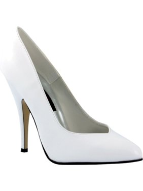 5debbcc4835 Product Image Seduce 5 Inch Comfortable High Heel Sexy White Patent Pump