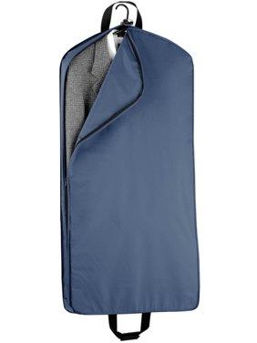 Mid Length Garment Bag W 2 Large Pockets In Navy Blue