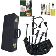 Scottish Bagpipe Black Silver with Hard Case Starter Package