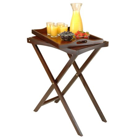 Winsome Wood Devon Butler TV Table w/Serving Tray 94422 Folding Tray Table  NEW