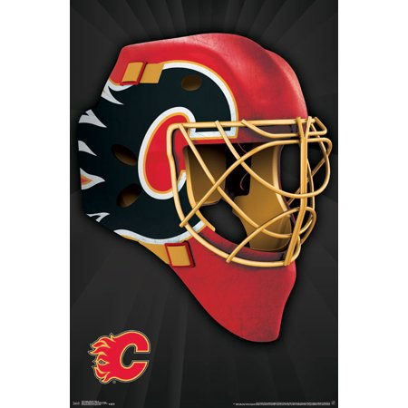 Trends International Calgary Flames® Mask Wall Poster 22.375