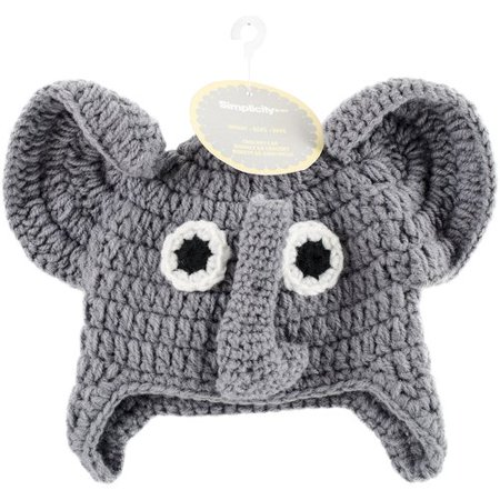 - Crocheted Hats For Babies, Elephant