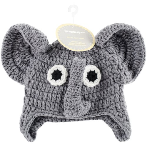 Crocheted Hats For Babies, Elephant