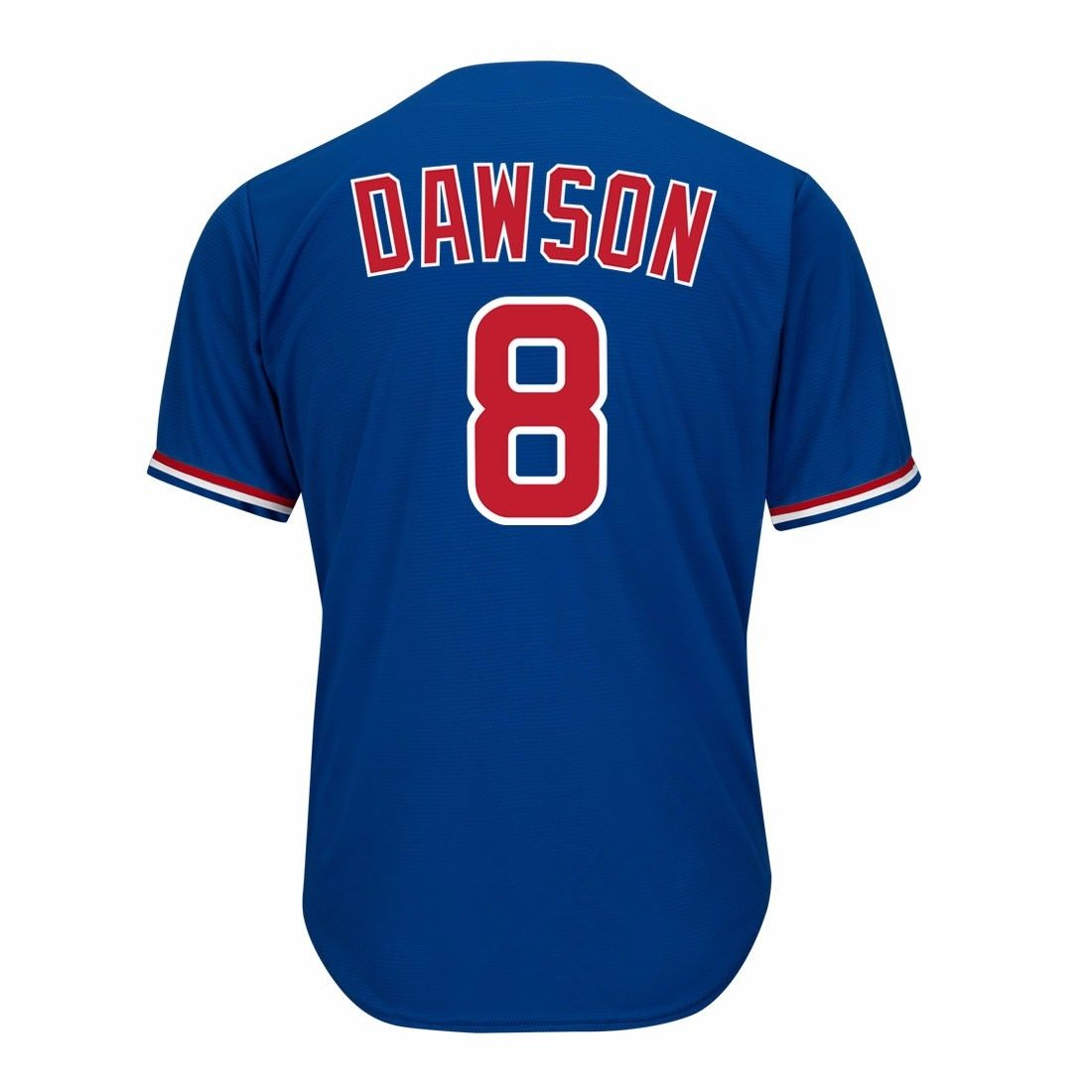 Andre Dawson Chicago Cubs MLB Majestic Men's Blue 1994 Official Cooperstown Cool Base Away Jersey