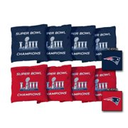 New England Patriots Super Bowl LIII Champions 8-Piece Corn-Filled Cornhole Bag Set