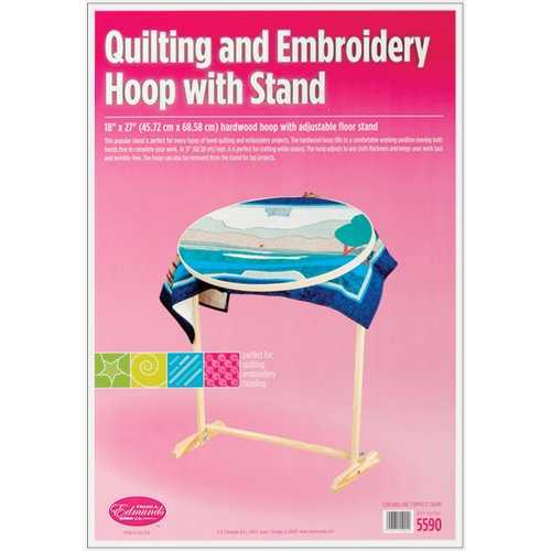 Edmunds Wood Hoop and Floor Stand Multi-Colored