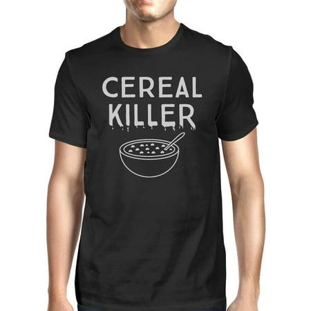 Cereal Killer T-Shirt Mens Black Funny Graphic Halloween Tee - College Men Halloween