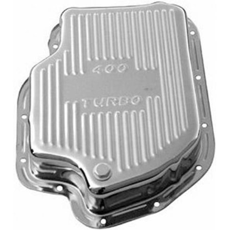 Racing Power R9197 Chrome GM Turbo 400 Transmission Pan - Finned & 3in Deep