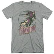 Phantom Phantom And Dog Mens Tri-Blend Short Sleeve Shirt
