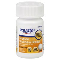 Equate Motion Sickness Tablets, 100ct