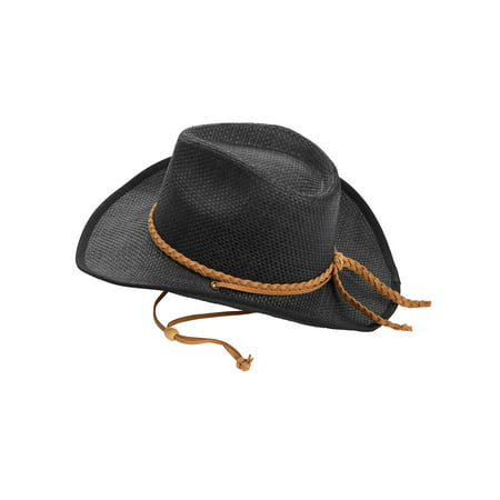Time and Tru Women's Faux Suede Strap Cowboy Hat