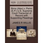Birns (Alex) V. Perini (E.P.) U.S. Supreme Court Transcript of Record with Supporting Pleadings