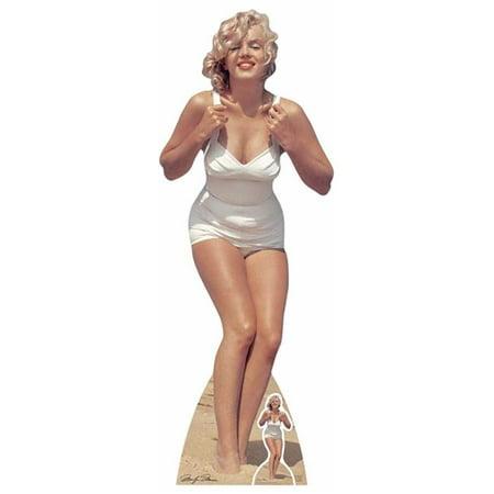 star cutouts sc1228 172 x 63 cm marilyn monroe white swimsuit
