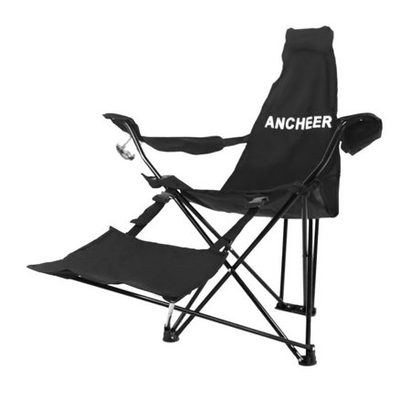 ANCHEER Outdoor Portable Folding Chair Camping Hiking Fishing Beach Recliner