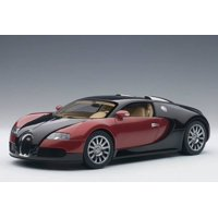 Bugatti EB Veyron 16.4 1st  Production Car Black and Red Limited Edition to 1200pcs 1/18 Diecast Model Car by Autoart
