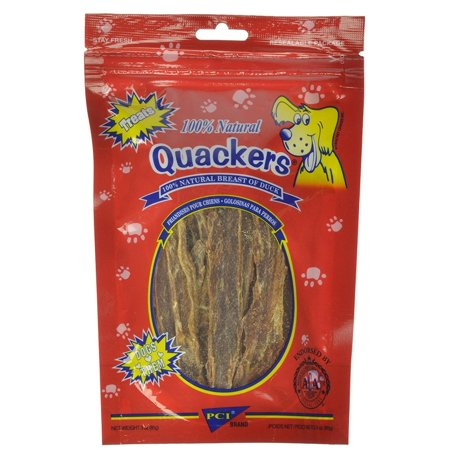 Quackers Dog Treats, Quakers duck breath treat is great for dogs if allergic to chicken or beef or simply just enjoys duck meat By PCI Natural Dog Treats - Quackers Ducks