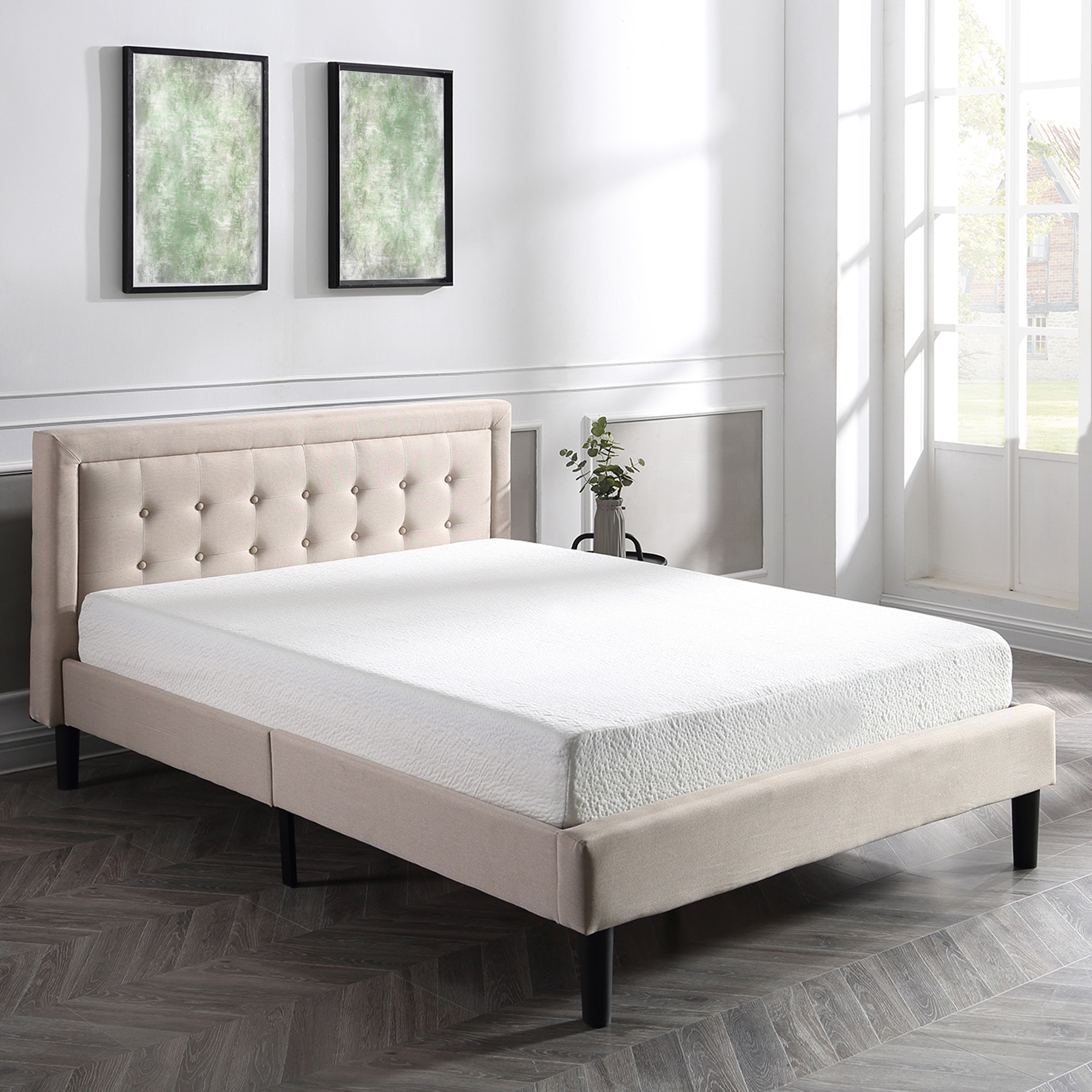 Modern Sleep Cool Gel Ventilated Gel Memory Foam 8-Inch Mattress, Multiple Sizes