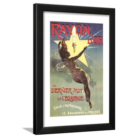 Rayon Wall Lighting - Ad for Rayon D'Or Lighting Framed Print Wall Art