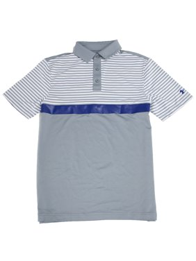 6f620956 Product Image Under Armour Men's Major Stripe Golf Polo Shirt, Steel, Small