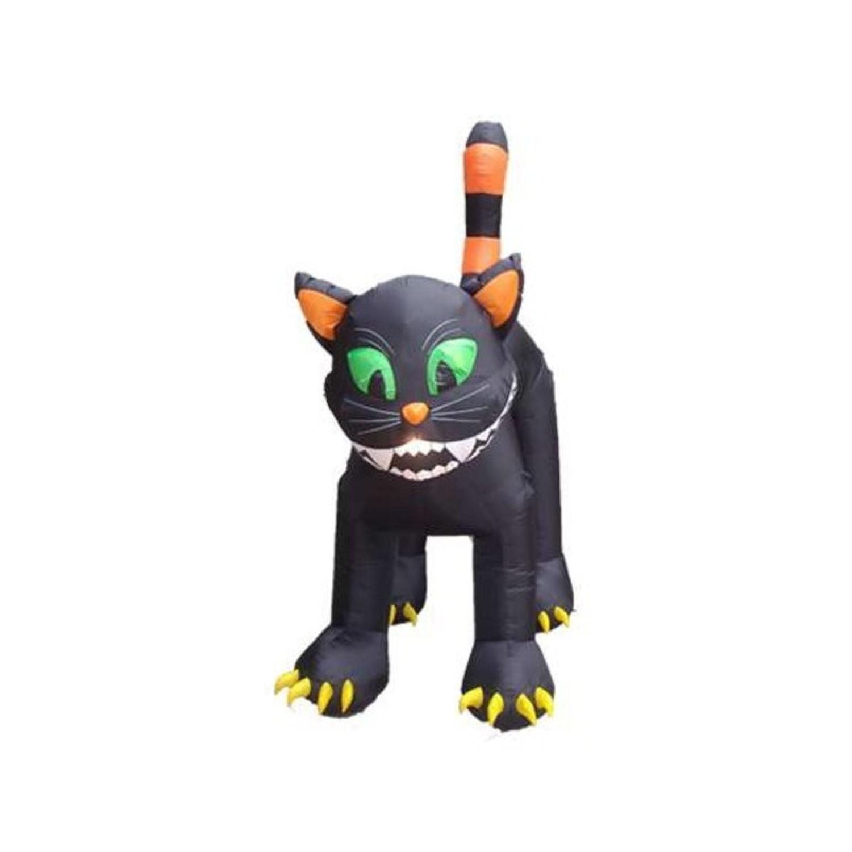 11 inflatable animated black cat lighted halloween yard art decoration walmartcom