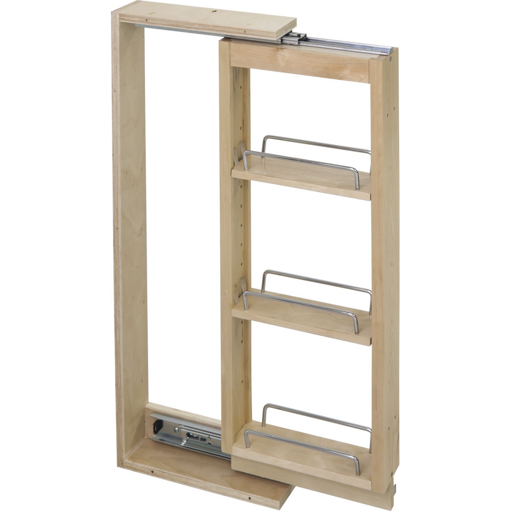 "Hardware Resources Wall Cabinet Filler Pullout 6"" X 30"" Wfpo630 1/Ctn Hard Maple"