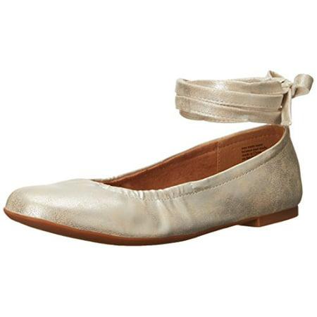 BC Footwear Women's Have A Heart Ballet Flat, Silver, 8 M US