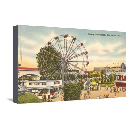 Coney Island Ferris Wheel, Cincinnati, Ohio Stretched Canvas Print Wall - Coney Island Ohio Halloween