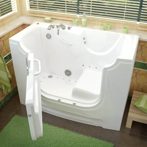 Therapeutic Tubs HandiTub 60'' x 30'' Air/Whirlpool Jetted Wheelchair Accessible Bathtub