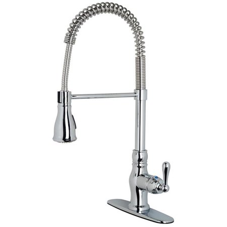 20.5 x 8.7 in. Stainless Steel Single-Handle Kitchen Faucet with Pull-Down