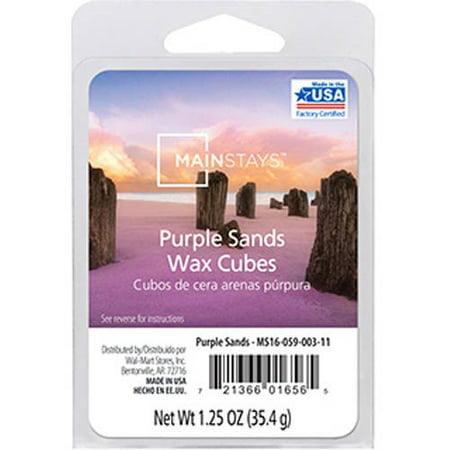 Mainstays Purple Sands Wax Cubes