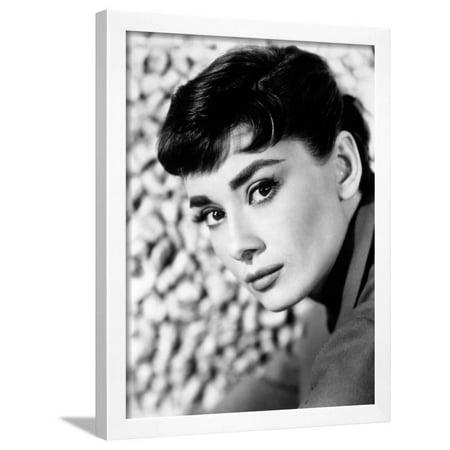 Audrey Hepburn Framed Print Wall Art - Walmart.com