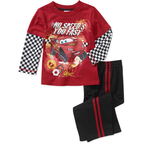 Disney Baby Boys' 2-Piece McQueen Hangdown Tee and Pant Set