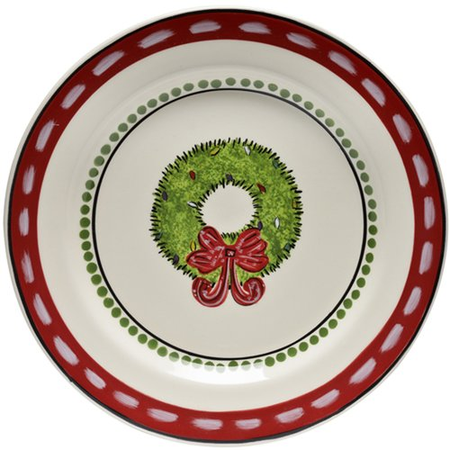 Thompson and Elm M.Bagwell 8'' Wreath Design Salad Plate