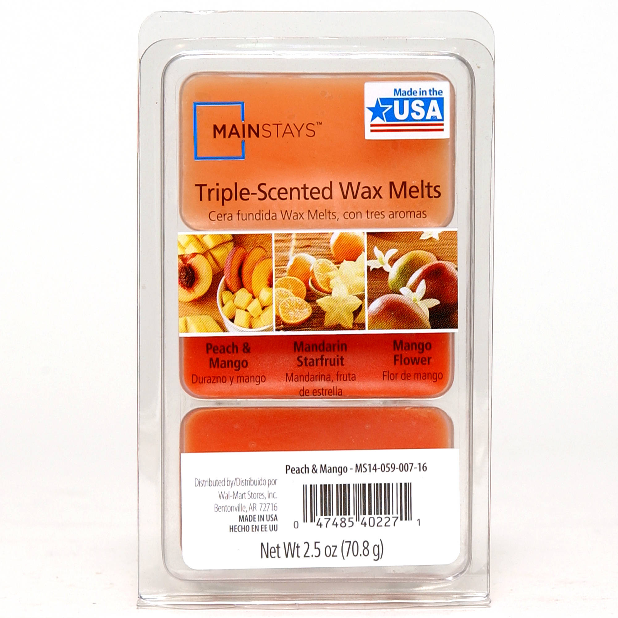 Mainstays Ms Wax Triple Peach Mango