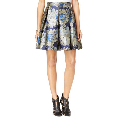 f90ea603e8 GUESS - Guess Womens Jacquard Floral Print Pleated Skirt - Walmart.com