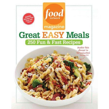 Food Network Magazine Great Easy Meals: 250 Fun & Fast Recipes–Walmart-Cash Back