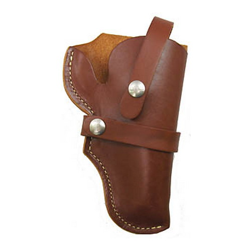 Hunter 1155 S&W Governor Belt Holster with Thumbsnap Right Hand Leather Brown