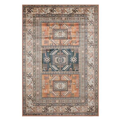 Image of Abacasa 7067 Sonoma Myan Aqua/Copper/Black/Ivory Area Rug