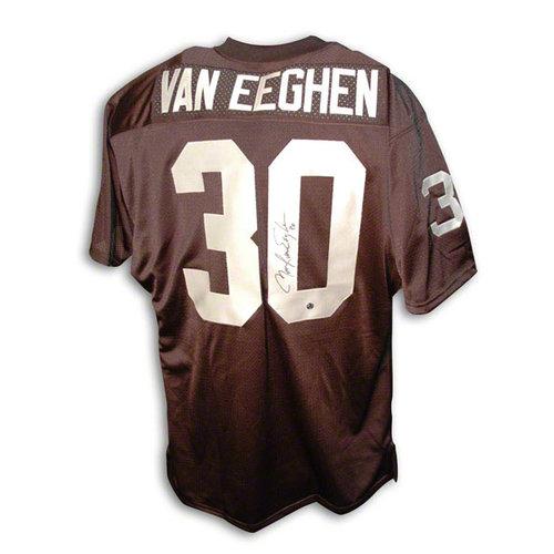 NFL - Mark Van Eeghen Autographed Oakland Raiders Black Throwback Jersey